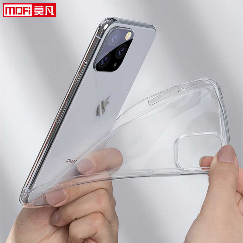 Capa para iphone 11 pro caso iphone 11 capa tpu silicone transparente claro macio voltar mofi ultra fino iphone 11 pro max capa
