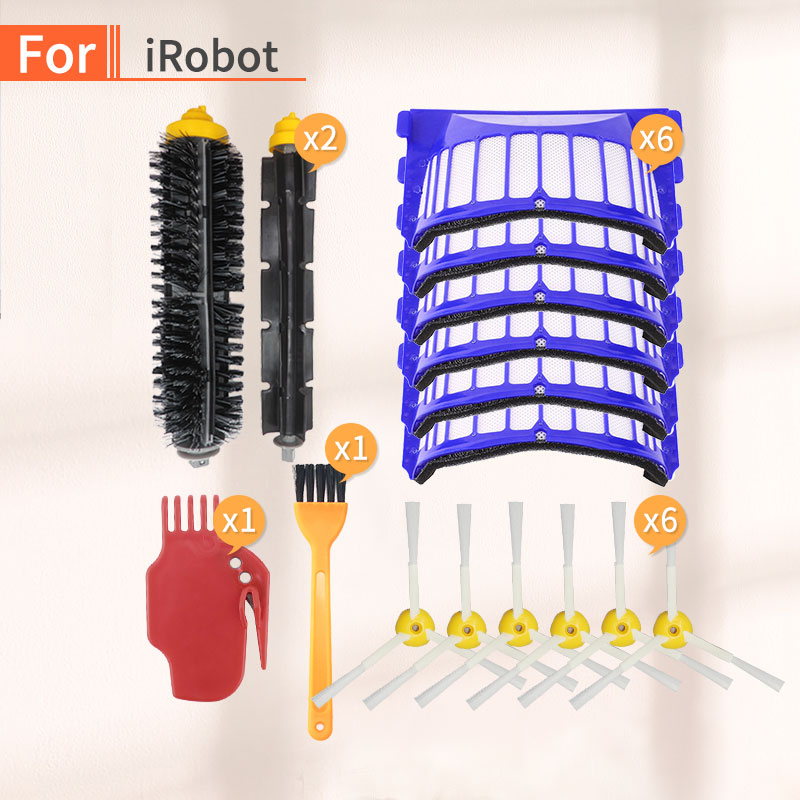 Spare Parts Kit For IRobot Roomba 600 Series 610 620 630 Bristles Aero Vac Filter Side Brush Robot Vacuum Cleaner Parts