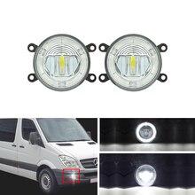 Прямая посадка для Benz Sprinter 208-515 06-08 передние светодиодные противотуманные фары W/направляющие ангельские глазки DRL Halo Кольца для стайлинга автомобилей запчасти лампы