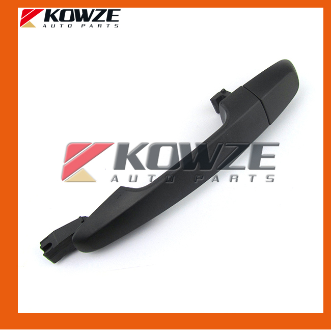 One Set Plain Black Exterior Door Outside Handle For Mitsubishi Pickup Triton L200 KB4T KB8T Sport Challenger KH6W KH8W KH9W image