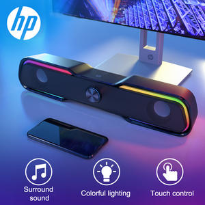HP Wired Speaker SoundBar LED Light Stereo Bass Subwoofer Audio AUX Speaker Surround Sound Bar Box for Computer TV PC Laptop
