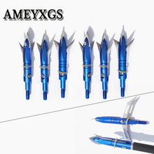 3/6/12/24pcs Hunting Broadheads 2 Blades Arrowhead 100Grain Arrow Point Target Shooting Screw Tips Accessories