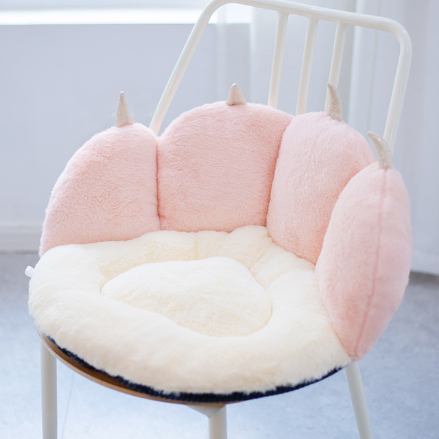 50*43*26cm NEW Stuffed Colorful Cat Paw Fuzzy Plush Sofa Seat Cushion Animal Indoor Floor Chair Pillow for Winter Warm 1