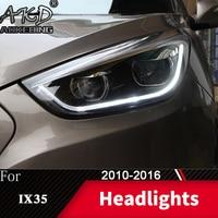 Head Lamp For Car Hyundai IX35 2010 2016 Tucson Headlights Fog Lights Day Running Light DRL H7 LED Bi Xenon Bulb Car Accessory