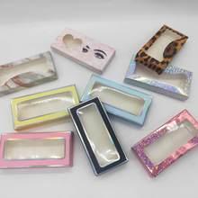 Limatic atacado 50/100ps cílios caixa de papel macio cílios embalagem para 5d vison cílios caixa de papel