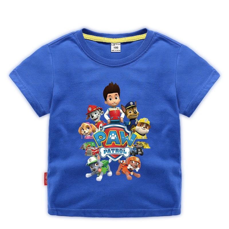 Новинка из мультфильма «Щенячий патруль» Детская футболка для мальчиков и девочек от одного года до пяти лет с героями мультфильмов Детска...