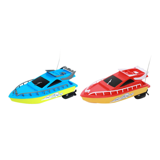 RC Boat Kids Toy Super Mini Speed Remote Control Ship 2 Colors 20M High Performance Electric Boats Toys For Children Barco Gifts 6