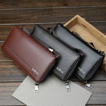 Business minimalist Multi card bit phone zipper men long wallet Letter Print PU leather Thin purse high quality 2019 slim clutch недорого