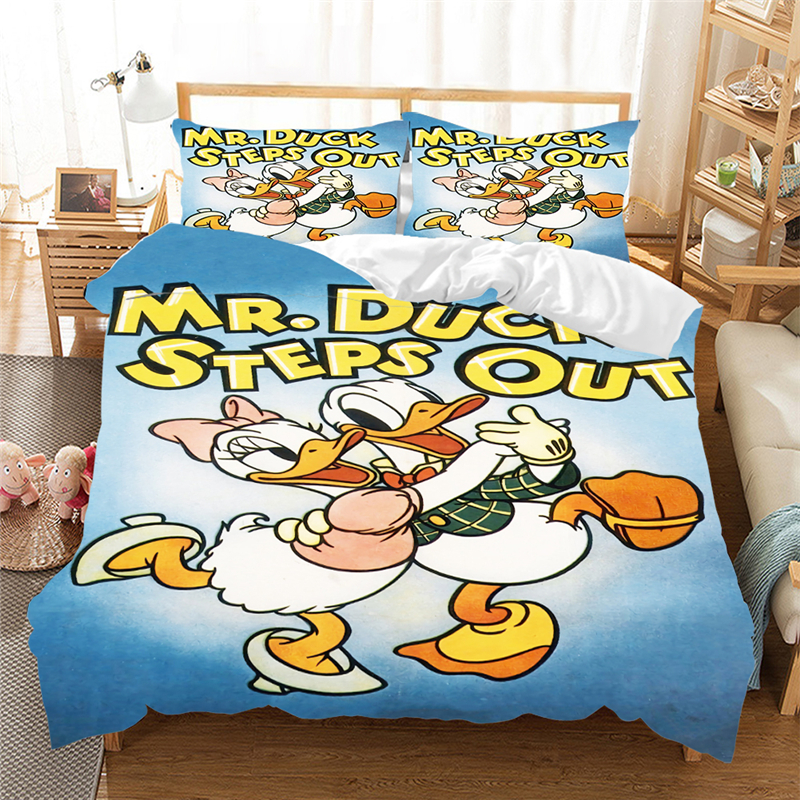 100% Polyester Donald Duck Daisy Bedding Set Bed Set Children Girl Duvet Cover Comforter Bedding Sets Queen King Size Cover Bed