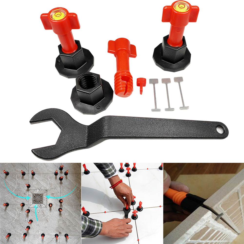 Tile Leveling System Kit Reusable Leveler Flat Ceramic Floor Wall Construction Tools DEC889