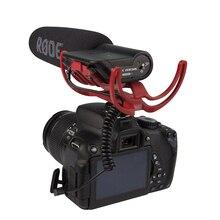 Для Rode VideoMic на камеру установлен дробовик микрофон для Canon T3i 5D2 7D 60D 70D 5D3 Nikon D800 D600 D700