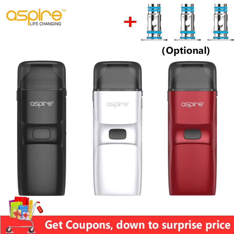 Upgraded Aspire Breeze NXT Kit 1000mAh Battery With Breeze NXT Pod 0.8ohm Mesh Coil Electronic Cigarette Vape Vs Aspire AVP Pod