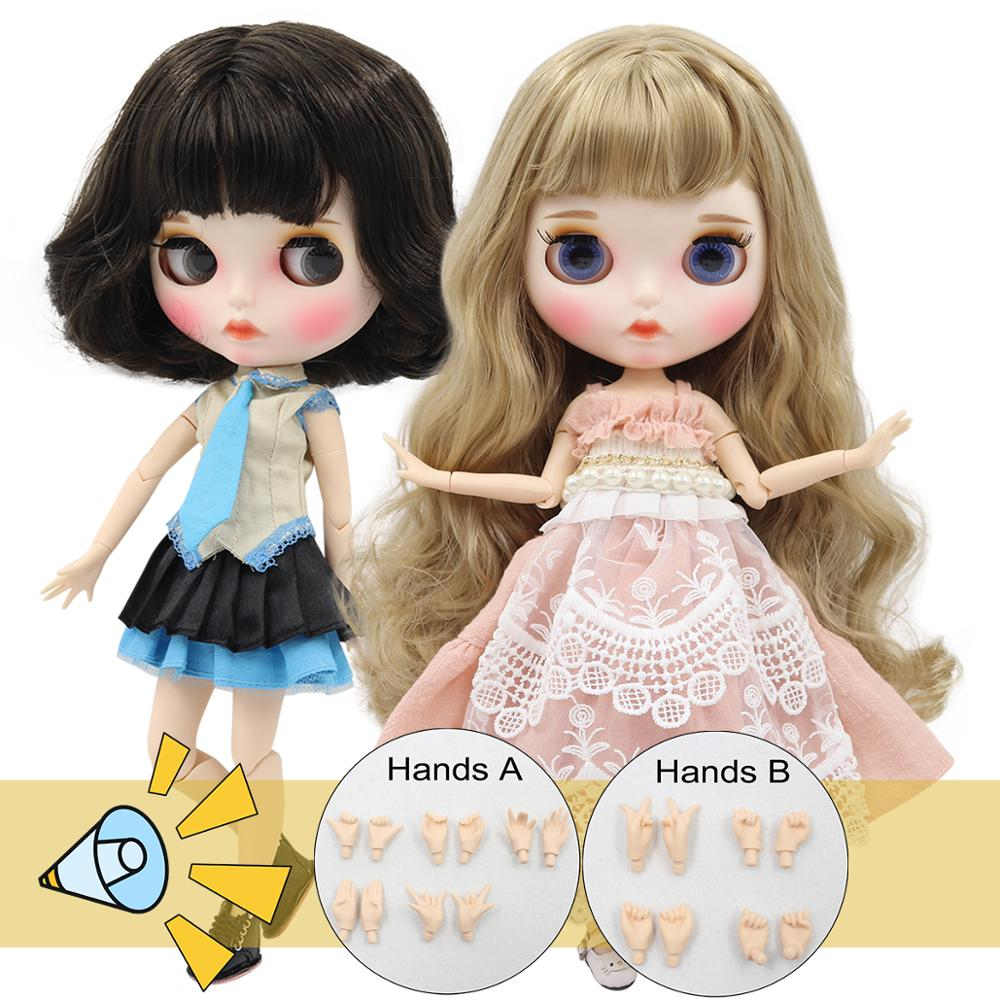Ледяной DBS Blyth кукольные 1/6 bjd шарнирное тело белая кожа матовая лицевая сторона с бровей пользовательские куклы 30 см ob24 голая кукла