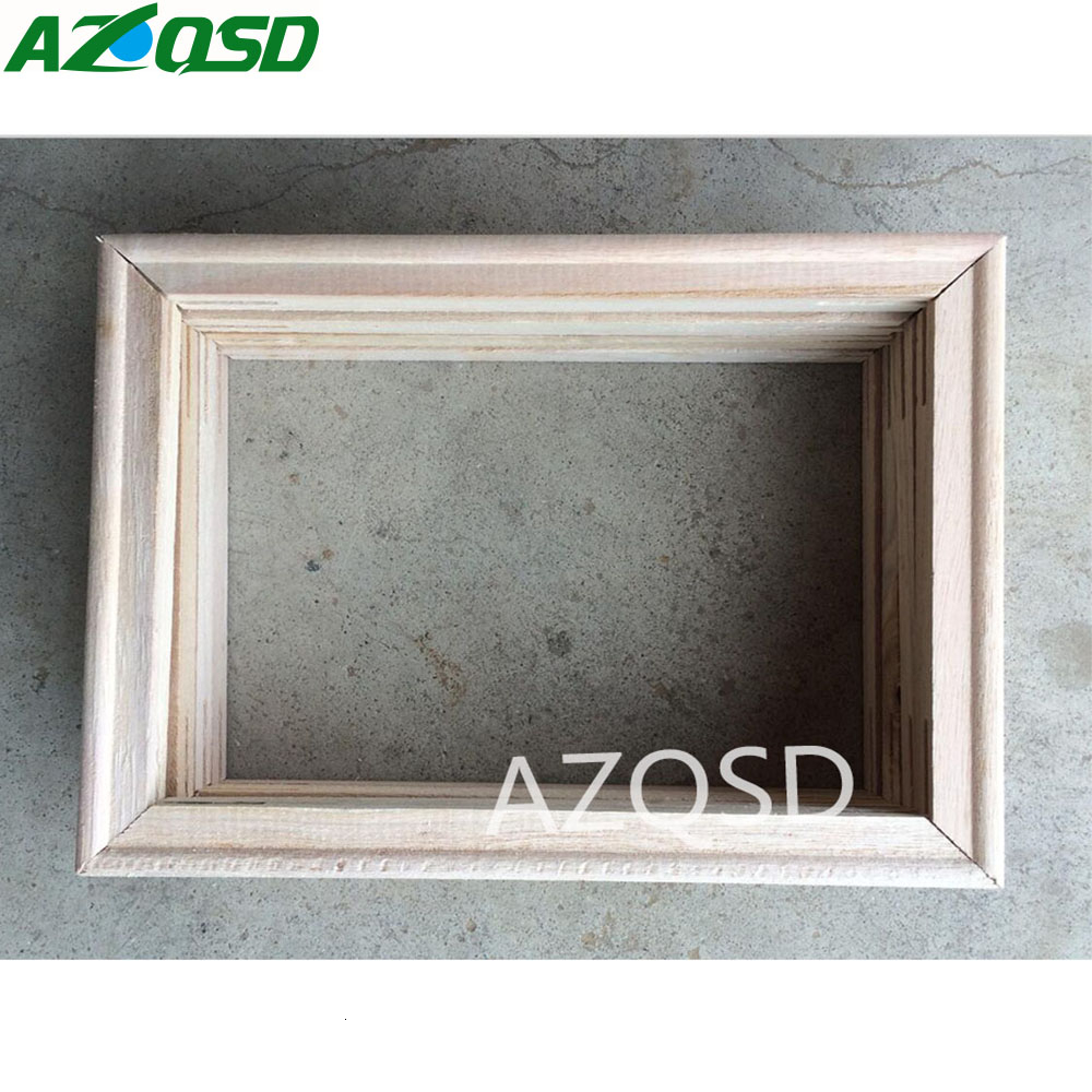 AZQSD 40X50cm DIY Wooden Frame for Oil Painting By Numbers Painting Accessories Calligraphy Frame Mosaic Assembly Hot Product(China)
