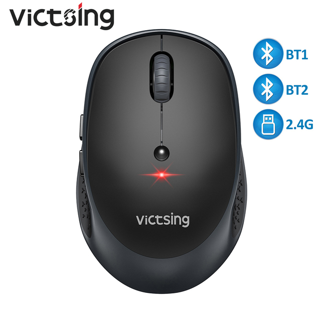 VicTsing PC254 Wireless Mouse 2400DPI Adjustable Portable Bluetooth Mouse 2.4Ghz USB Optical Cordless Mice For PC Tablet Laptop