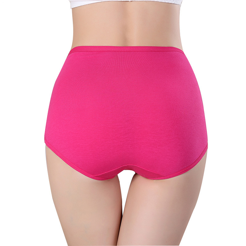 WOMEN'S Panties Women's 100% Cotton Briefs High-waisted Pure Cotton Belly Holding Knicker Breathable High-waisted Panties