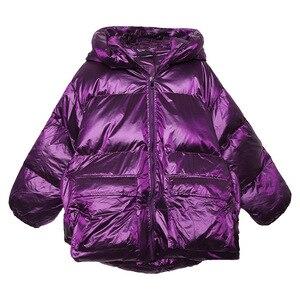 Image 5 - Зимняя плотная женская куртка с хлопковой подкладкой, теплая свободная парка для девочек с капюшоном, женское пальто с большими карманами, короткая стильная асимметричная подкладка