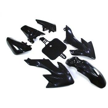 Negro Plsatic carenado de chasis Kits para Honda XR50 CRF50 chino Pit de la bici de la suciedad 50cc 70cc 90cc 110cc 125cc 150cc 160cc DHZ YCF Piranh