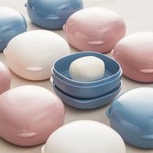 Soap-Box Hiking-Holder Macaron-Color Bathroom-Accessories Plastic Travel Portable 1pcs