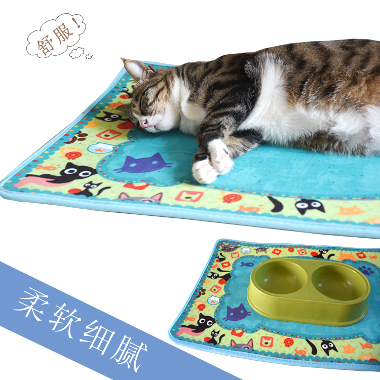 With Sulfotanshinone-Crystal Velvet Cat Blanket Foreign Trade Kennel Cat Nest Pet Supplies Autumn And Winter Pet Pad Coaster Pla