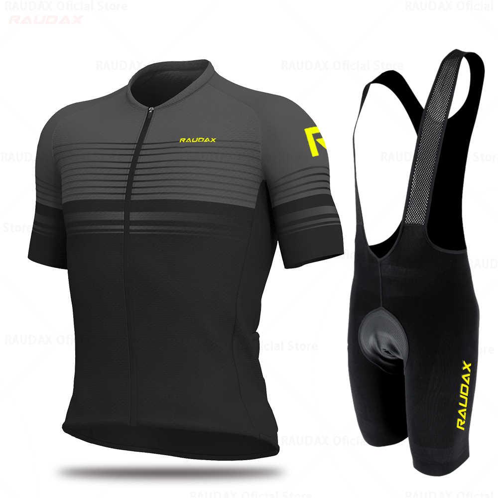 2020 Pro Team Raudax Bike Set Radfahren Uniforme Anzug Mtb Atmungsaktive Mountainbike Kleidung Tops Sportwears Radfahren Kleidung Kit