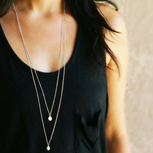 Fashion necklaces for women 2019 statement long chokers pendants gold silver accessories