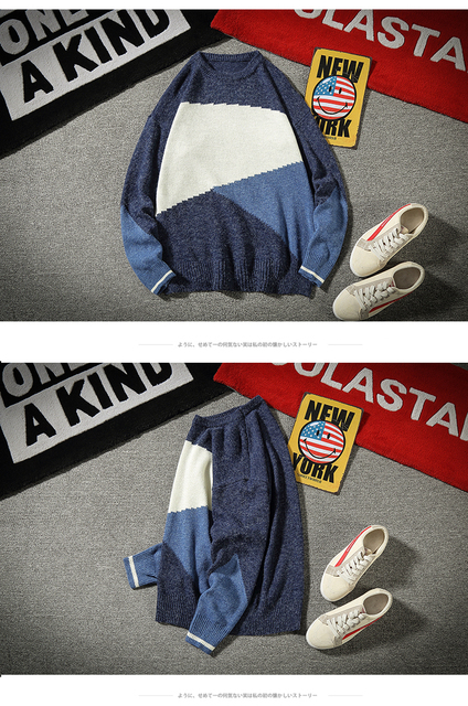 2019 wiosna i jesień nowy kolor pasujące sweter sweter wokół szyi duży rozmiar luźne na co dzień najniższy koszula czarny niebieski tanie i dobre opinie Uyuk Standardowy wełny Drukuj Pełna A023-M1906-P55 REGULAR O-neck Szydełkowane Brak Swetry COTTON Modalne NONE