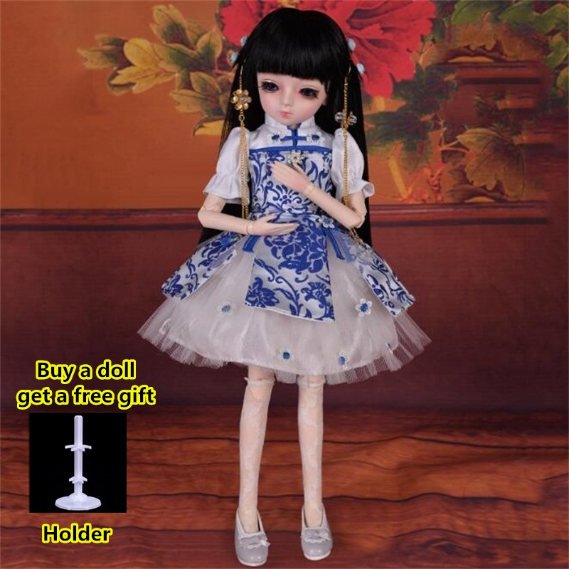 18 Movable Joints BJD Doll 1/4 With Full Outfits Wigs Shoes official Makeup Ball Jointed Dolls collection kids toys Christmas gi 12
