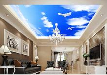 Fantasy starry living room ceiling mural  Ceiling Wall Mural Wallpaper For Walls 3D ceilings free shipping 3d outdoor flooring painted cartoons anti skidding thickened flooring mural living walls boy room wallpaper mural