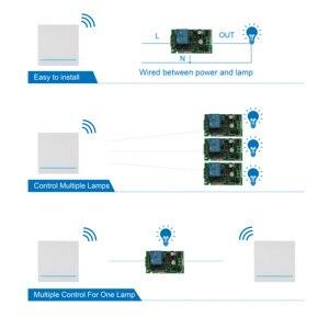 Image 3 - FUNSHION 433MHz uniwersalny bezprzewodowy pilot Control86 Panel ścienny nadajnik RF odbiornik 1 2 3 przycisk dla domu światło do pokoju przełącznik