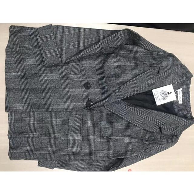 2020 NEW autumn spring jacket women suit coats plaid outwear casual turn down collar office wear work runway jackets blazer P121
