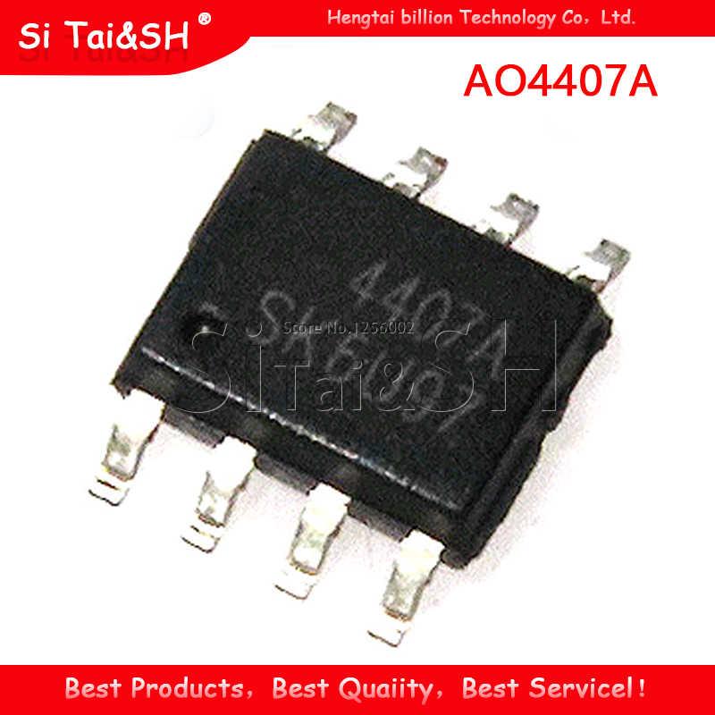 10 ピース/ロットAO4407A 4407A mosfet (金属酸化膜半導体電界効果トランジスタ) 新SOP8