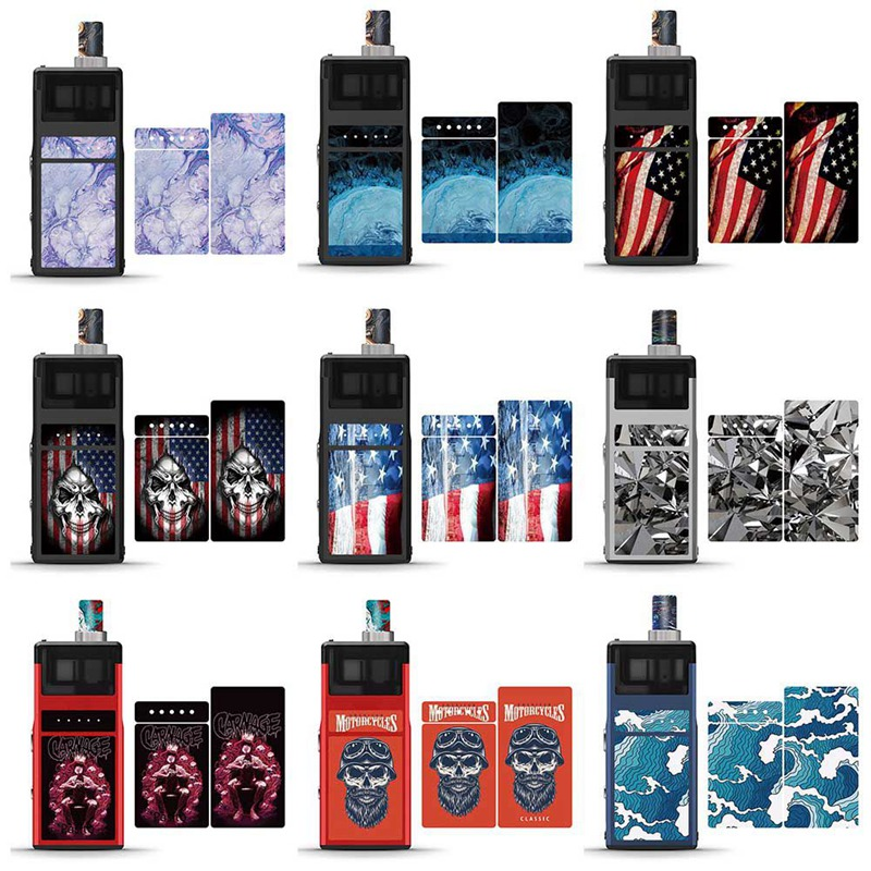 9Color PVC Sticker For Smoant Pasito Protector Human Skeleton Skull Plant E-cigarettes Case Film Skin Protect Sticker For Smoant
