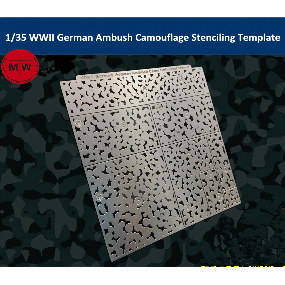 1/35 Scale WWII German Armour Ambush Camouflage Leakage Spray Stenciling Template Model Building Tools AJ0020