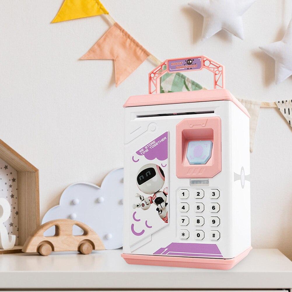 Kids Children Electronic Piggy Bank ATM Password Money Box Cash Coins Saving Box ATM Bank Automatic Deposit Safe Case