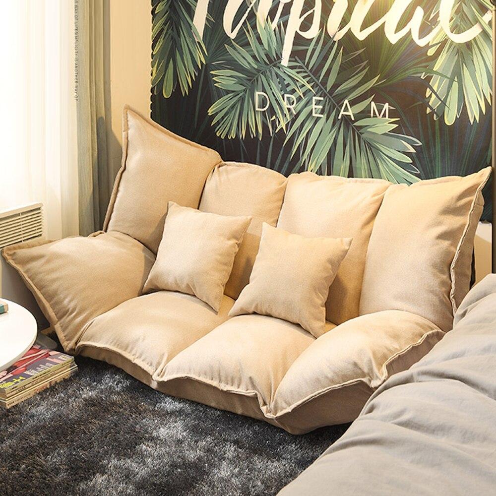 folding small lazy sofa bed adjustable corner sofa tatami futon living room bedroom single double simple floor bean bag chair
