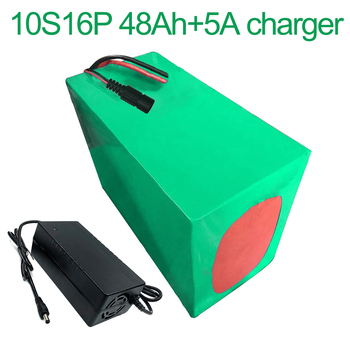 With 5A charger 36V 48Ah 10S16P 18650 Li-ion Battery Pack E-Bike Ebike electric bicycle 42V 200x155x140mm