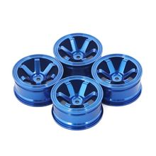 4pcs Metal Wheel Rim 1.9in for 1/10 RC Rock Crawler Axial SCX10 90046 AXI03007 R9UE injora 4pcs black wheel rim