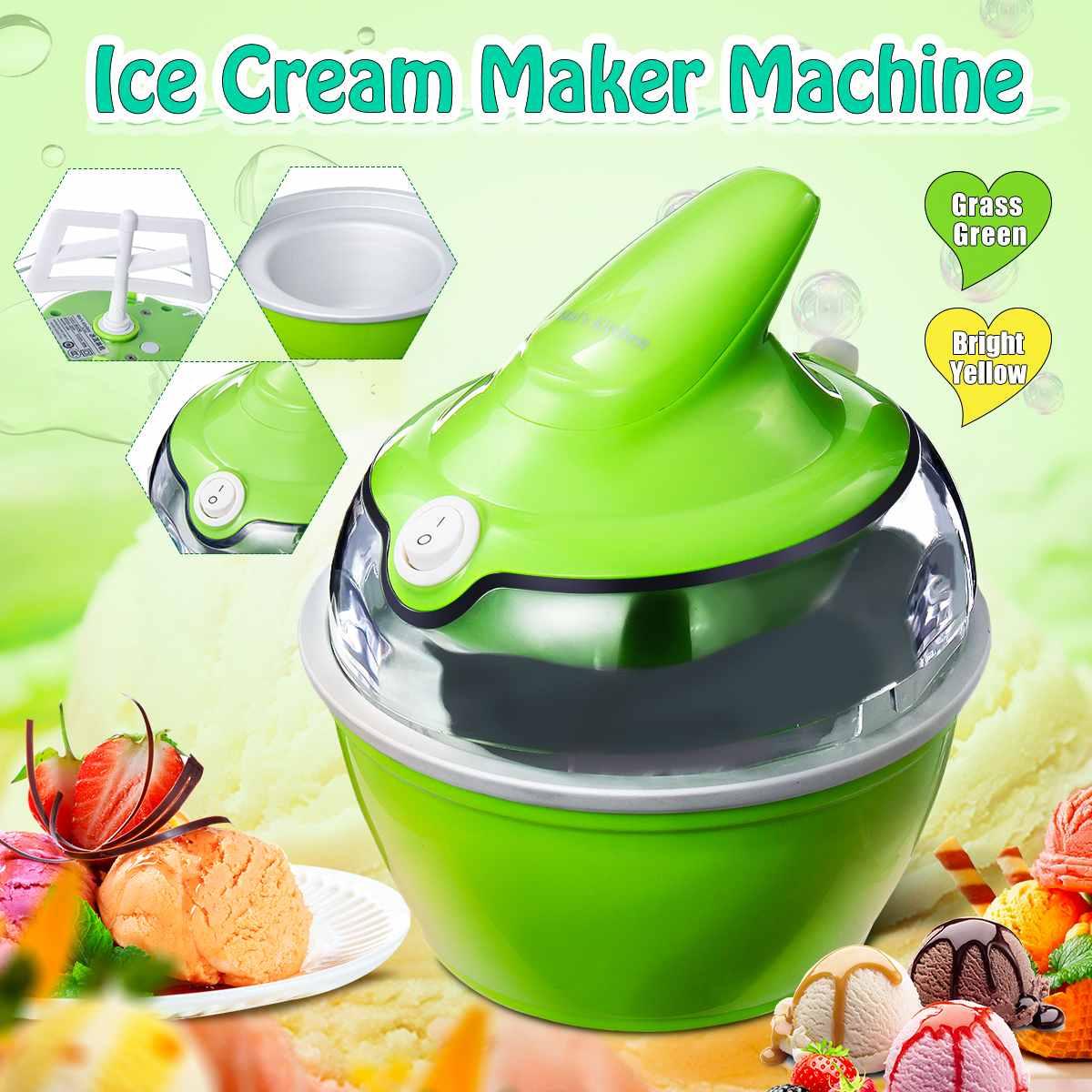220V Ice Cream Maker Machine For Home Fast Ice Yoghurt Dessert Maker Easy Operation High Quality 10W 360ml Household