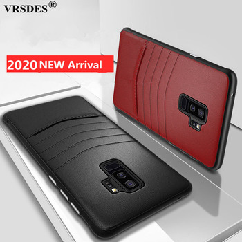 Luxury PU Leather Phone Cases For Samsung Galaxy S9 S8 Plus Note 9 8 Cover Business Leather PC Case For Samsung S9+ S8+ Note 9 8 image