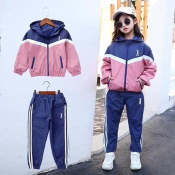 Girls Infant Striped Hooded Clothing Sets Teenage Autumn Winter Tracksuit Kids Active Sportswear Girls Suit Costume Sports Suits bibihou girls clothing set sport suit clothes navy style girls sports suits teenage kids tracksuits sportswear jumpsuit boys