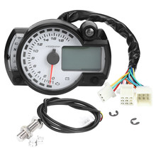 18000 RPM MPH Motorrad Kilometerzähler Tachometer Tacho LCD Digital Display Multifunktions Motorrad Instrument mit Sensor