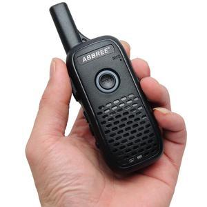 Image 4 - 2 sztuk ABBREE AR Q2 Mini przenośne walkie talkie podwójny PTT ładowania USB VOX dwukierunkowe Radio Transceiver przenośny UHF 400  470MHz