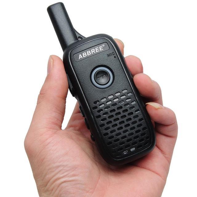 2pcs ABBREE AR-Q2 Mini Draagbare Walkie Talkie Dual PTT USB Charge VOX Two-Way Radio Handheld Transceiver UHF 400-470MHz