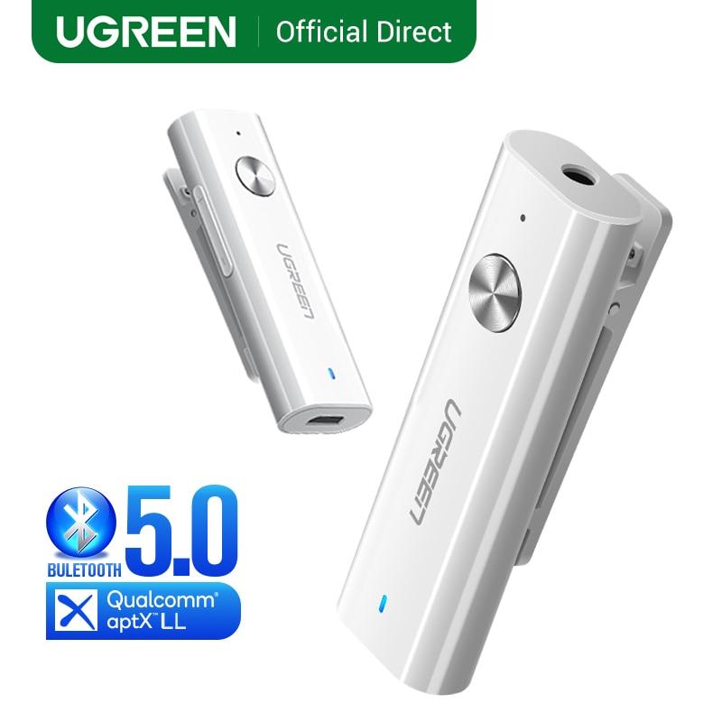 UGREEN Bluetooth Receiver 5.0 HiFi Wireless Audio Adapter Support Microphone 3.5mm AUX Bluetooth aptX LL Adapter With Battery|Wireless Adapter|   - AliExpress