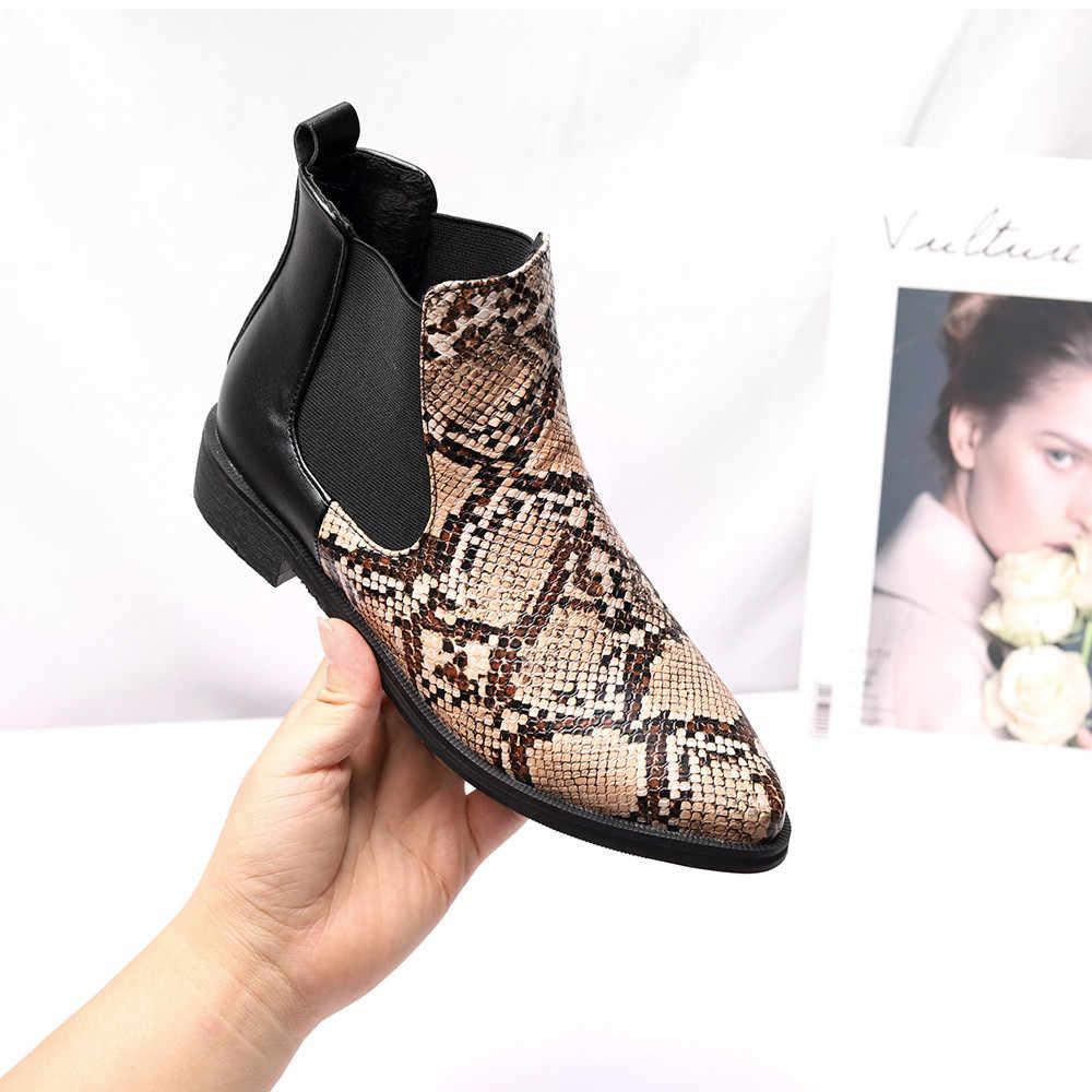 2019 ฤดูหนาวรองเท้าผู้หญิงข้อเท้ารองเท้าบู๊ทคุณภาพสูงชี้ Toe สุภาพสตรีรองเท้าหนังแฟชั่นรองเท้าขนาด 33-43