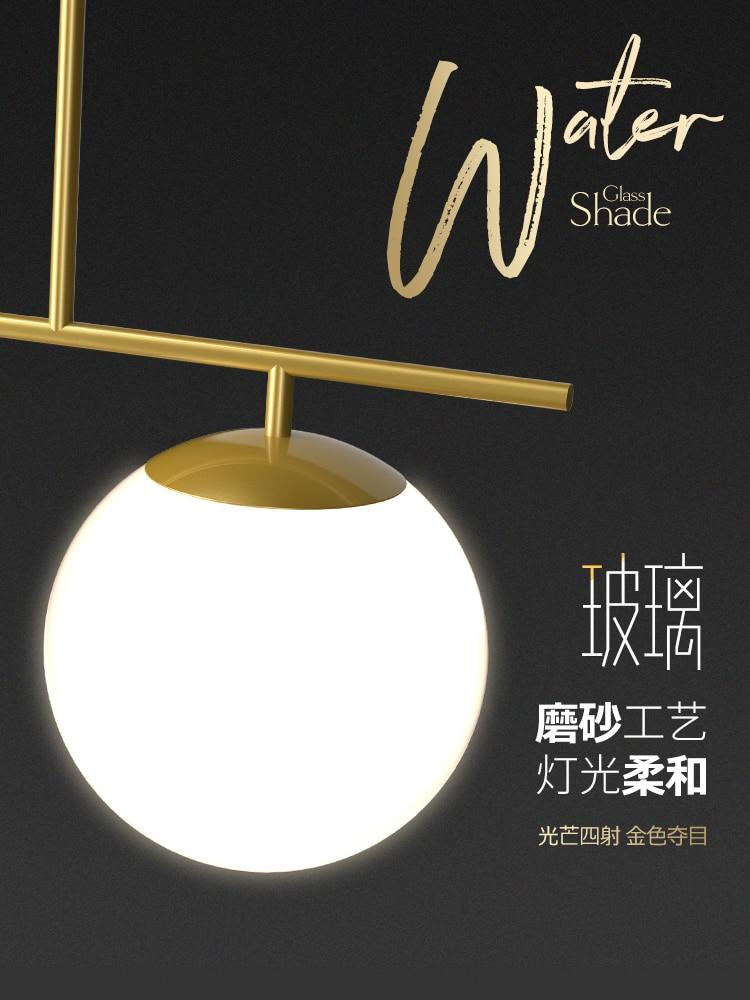 Image 5 - Modern Nordic Simple Black/Golden LED bedroom Pendant lights home decor Glass Ball Hanging lamps Dining room lighting fixturesPendant Lights   -