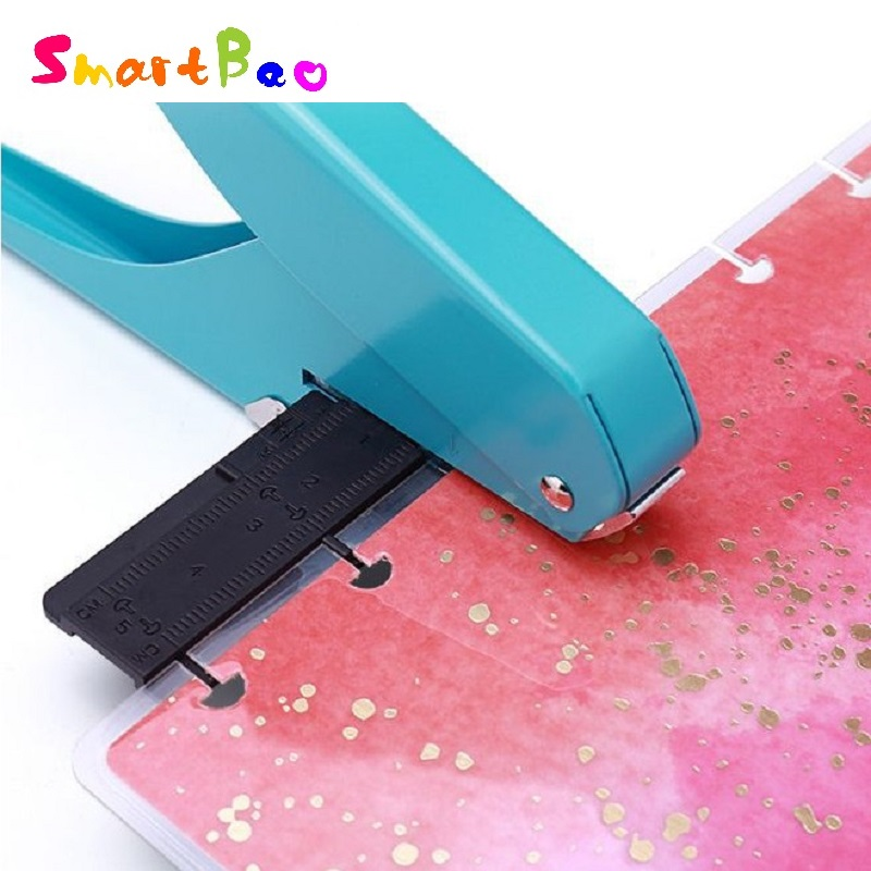 Mushroom Hole Puncher For Happy Planner Hole Punch Loose-leaf Manual Punching Creative School Supplies; 10 Sheet Papers One Time