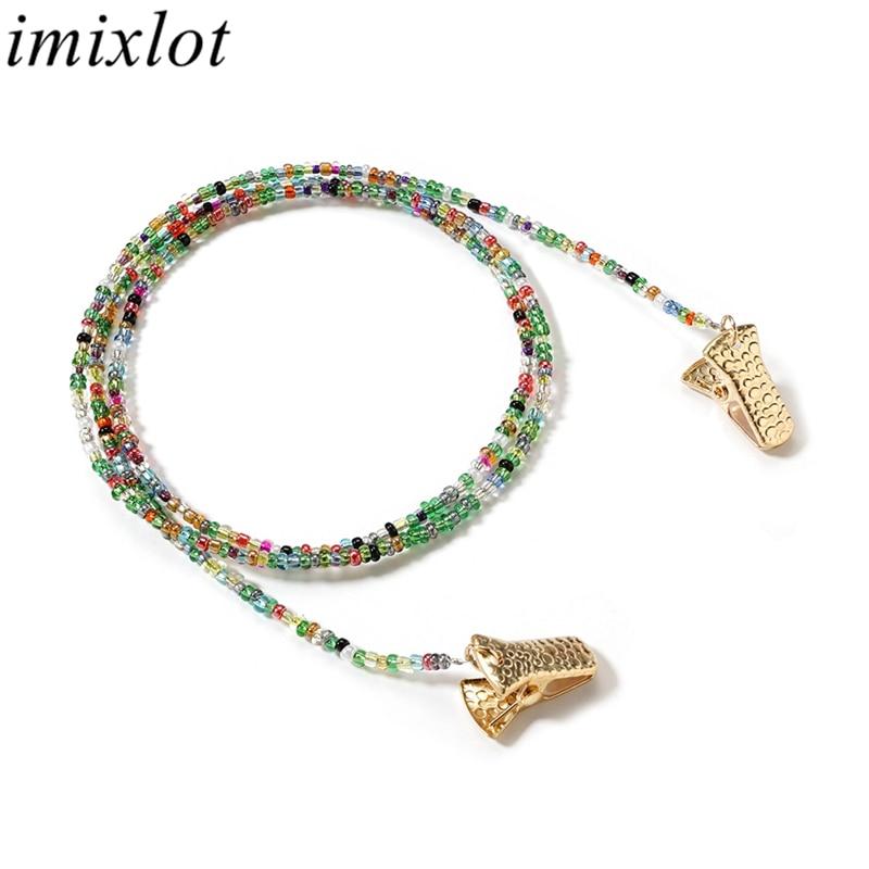 Imixlot Delicate Creative Colored Beaded Glasses C
