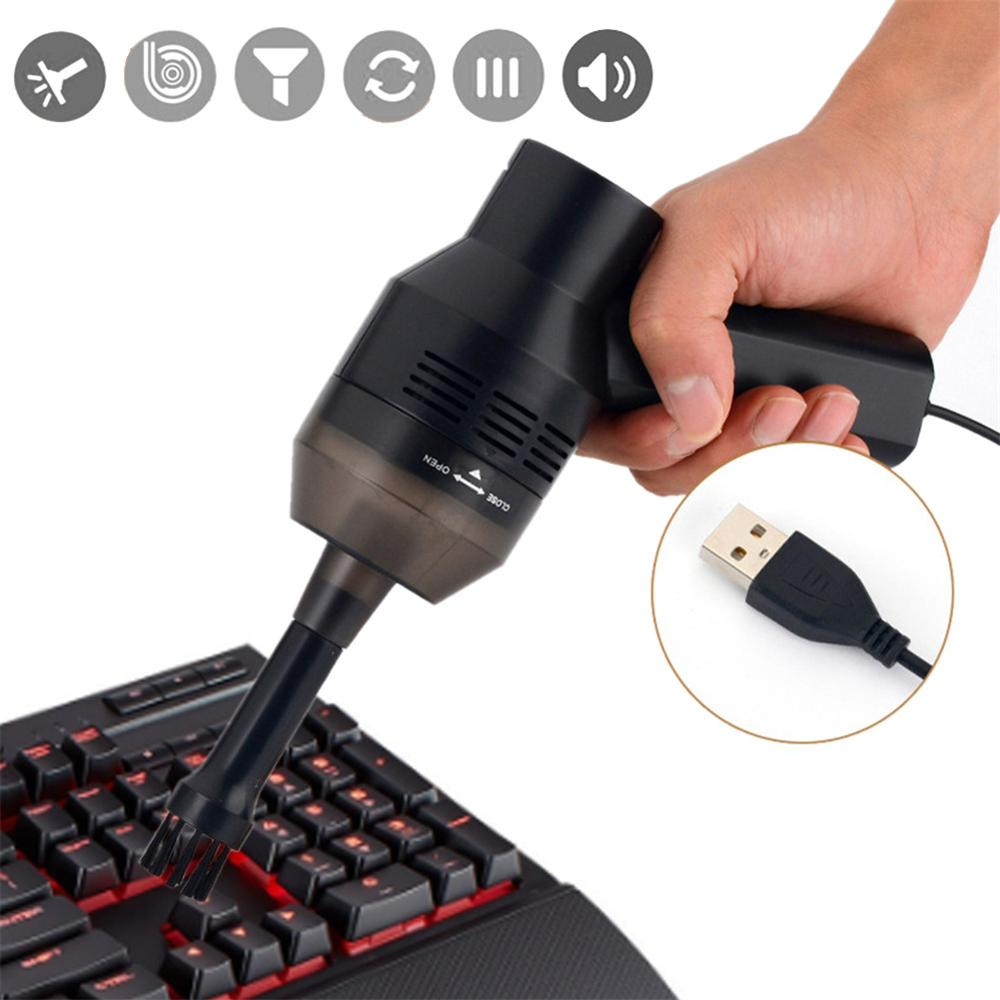 Mini USB Keyboard Vacuum Cleaner Brush For Laptop Desktop PC Computer Portable Cleaners Tools Mini Handheld USB Vacuum Cleaner